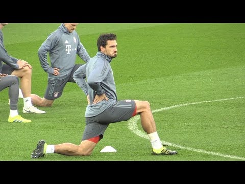 Bayern Munich Train At Anfield Ahead Of Their Champions League Liverpool Game