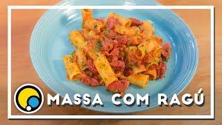 Como fazer receita de massa com ragu de linguiça defumada - Renato Carioni