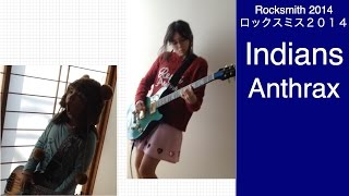 Here is Audrey (12) and Kate (7) playing Rocksmith - Indians - Anth...