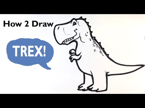 How to Draw a-Dinosaur(cute) - Trex - Easy Pictures to ...