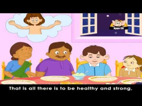 Rhymes for Learning English with Lyrics -  Health and Food