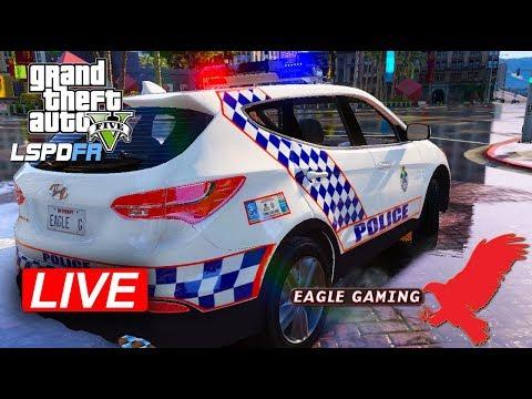 GTA V | LSPDFR Live! | Los Santos Downtown Patrol in the QLD Police Hyundai Santa Fe