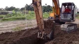 怪手挖掘作業~第五站~挖溝回填整平作業