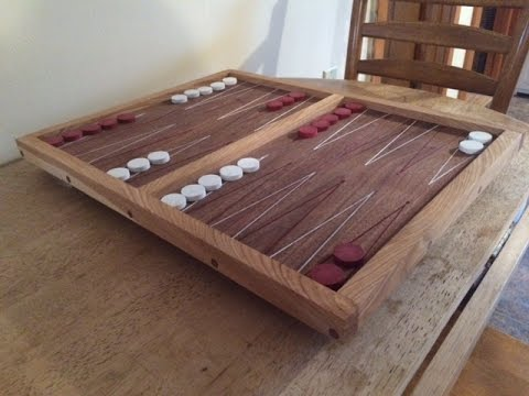 Walnut and Ash Backgammon Board