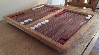 Walnut and Ash Backgammon Board