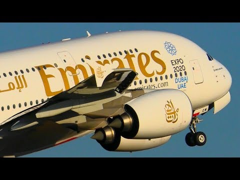 10 AWESOME Emirates AIRBUS A380 Landings & Takeoffs | Melbourne Airport Plane Spotting