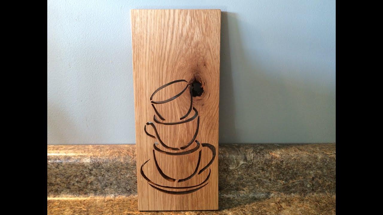 Coffee Cups Scroll Saw Art Youtube