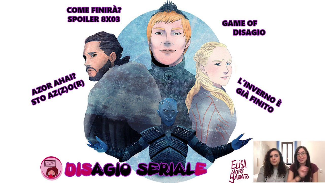 GAME OF DISAGIO - Come finirà GAME OF THRONES? (SPEED DRAWING + COMMENTO POST 8x03)