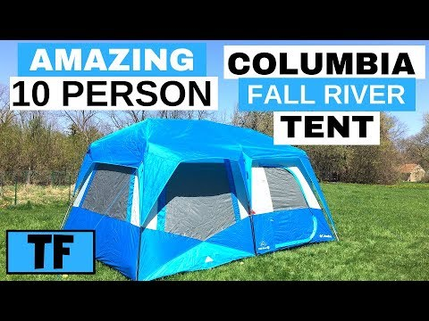 Best Columbia Fall River 10 Person Instant Tent Unboxing Setup and Review - 15 x 10