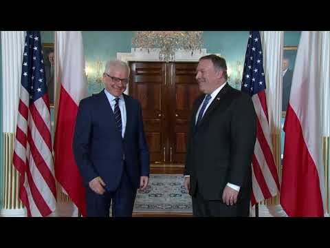 Secretary Pompeo Meets with Polish Foreign Minister Jacek Cz
