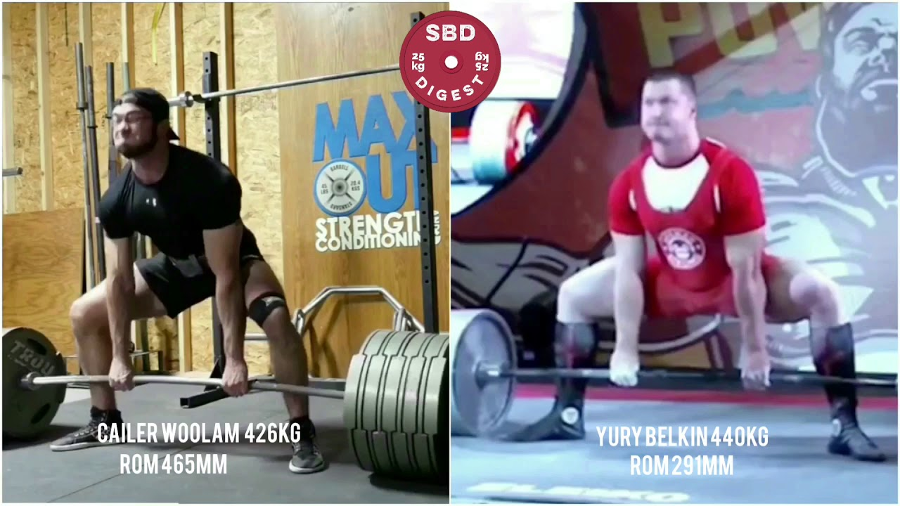 Cailer Woolam 426kg Vs Yury Belkin 440kg Deadlift - Лучшие приколы