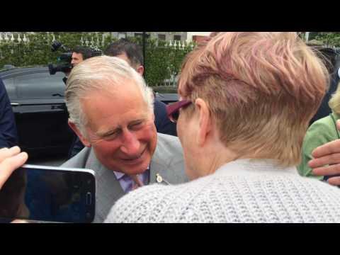 Prince Charles visit in Kilkenny IRELAND 11.05.2017 - Kiss the prince