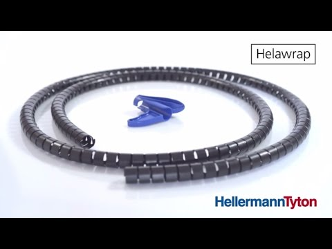 Cable organiser and desk cable management ideas: HellermannTyton Helawrap
