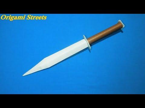 Как сделать нож из бумаги инструкция шаблоны для изготовления