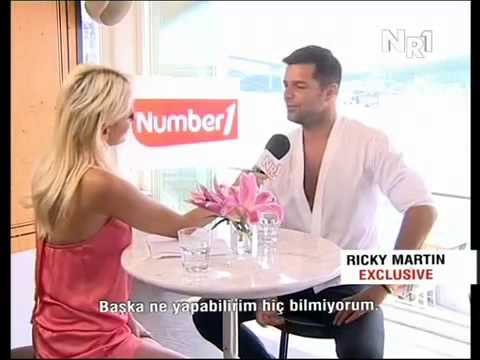Ricky Martin in Istanbul interview NUMBER ONE TV Part 1 Low
