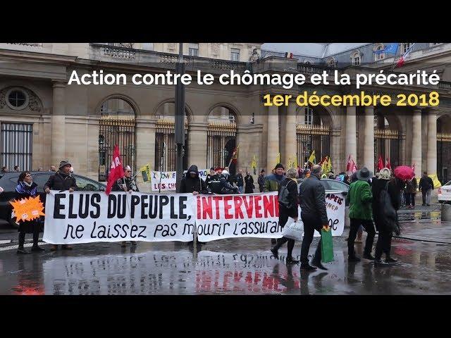 Action du 1er décembre 2018 contre le chômage et la précarité (MNCP, APEIS...)