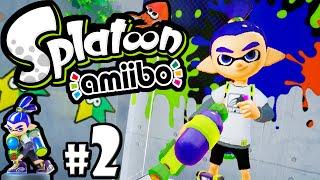 Splatoon Wii U Amiibo Challenges Inkling Boy PART 2 Roller Octomaw Boss Gameplay Walkthrough HD