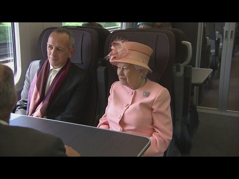 Queen Elizabeth II follows route of first train journey made by Queen Victoria