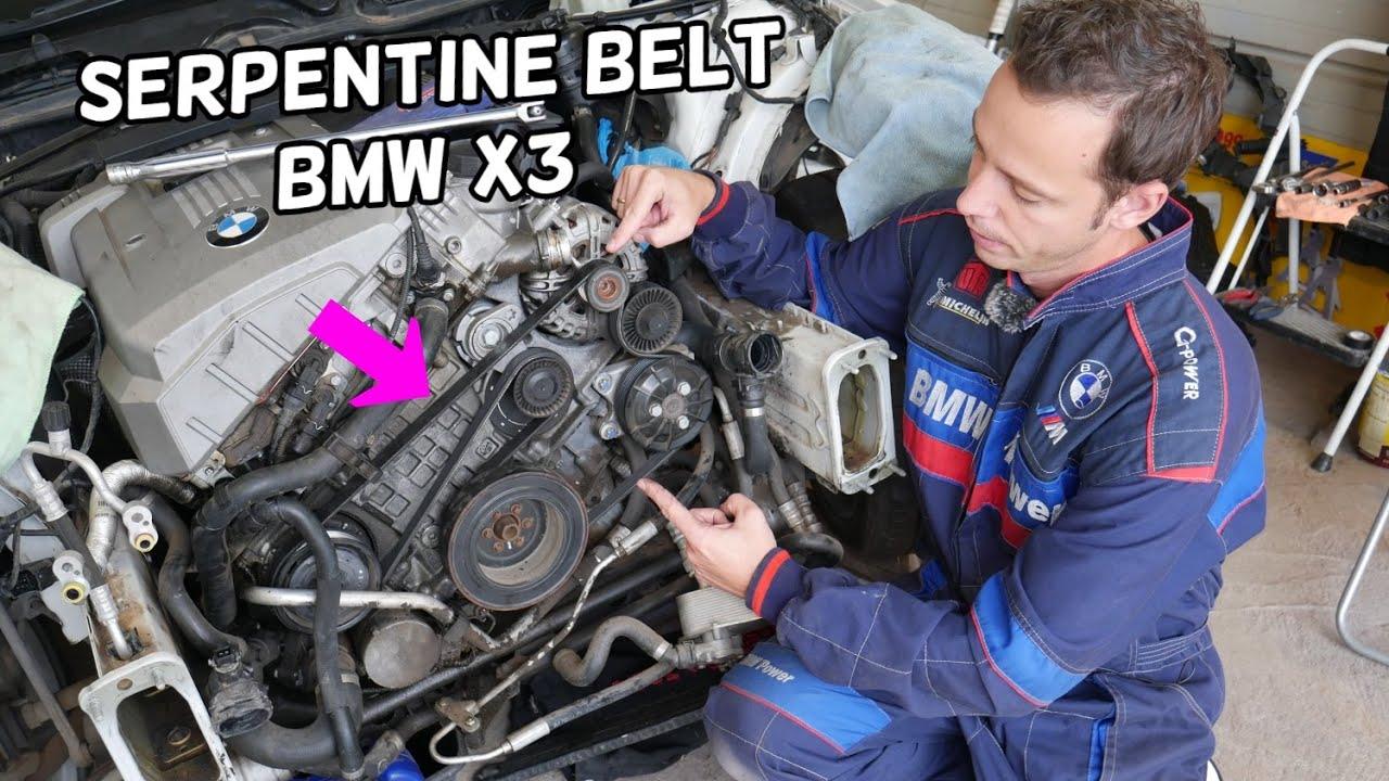 Serpentine Belt Replacement Diagram Bmw X3 E83 Youtube