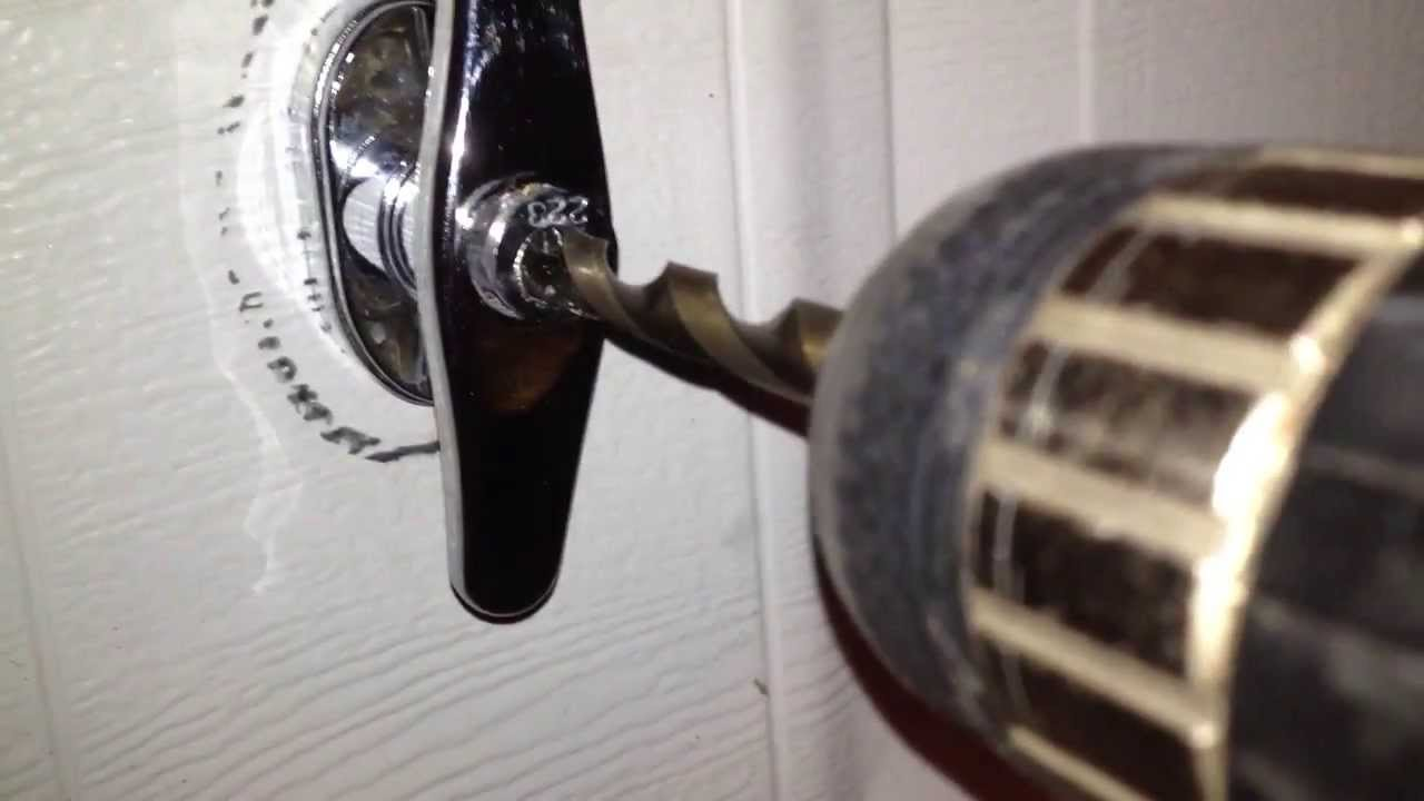 How To Drill Out A Garage Door Handle Lock Youtube