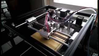 Printing with aluminum core-xy 3D-Printer