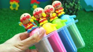 アンパンマンおもちゃアニメ 砂遊び キネティックサンドでアイス作り Toy Kids トイキッズ animation anpanman