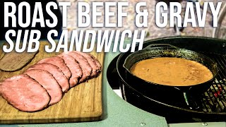 Roast Beef and Gravy Sub Sandwich