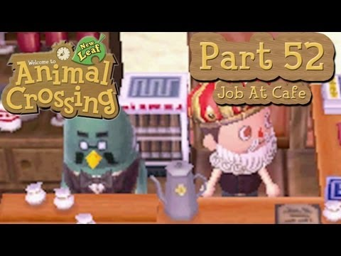 Animal Crossing: New Leaf - Part 52: Part-Time Job at Brewster's Cafe and Paying Off Final Loans!
