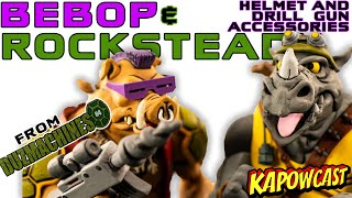 NECA BEBOP AND ROCKSTEADY DRILL AND HELMET ACCESSORIES BY DUZMACHINES84 REVIEW