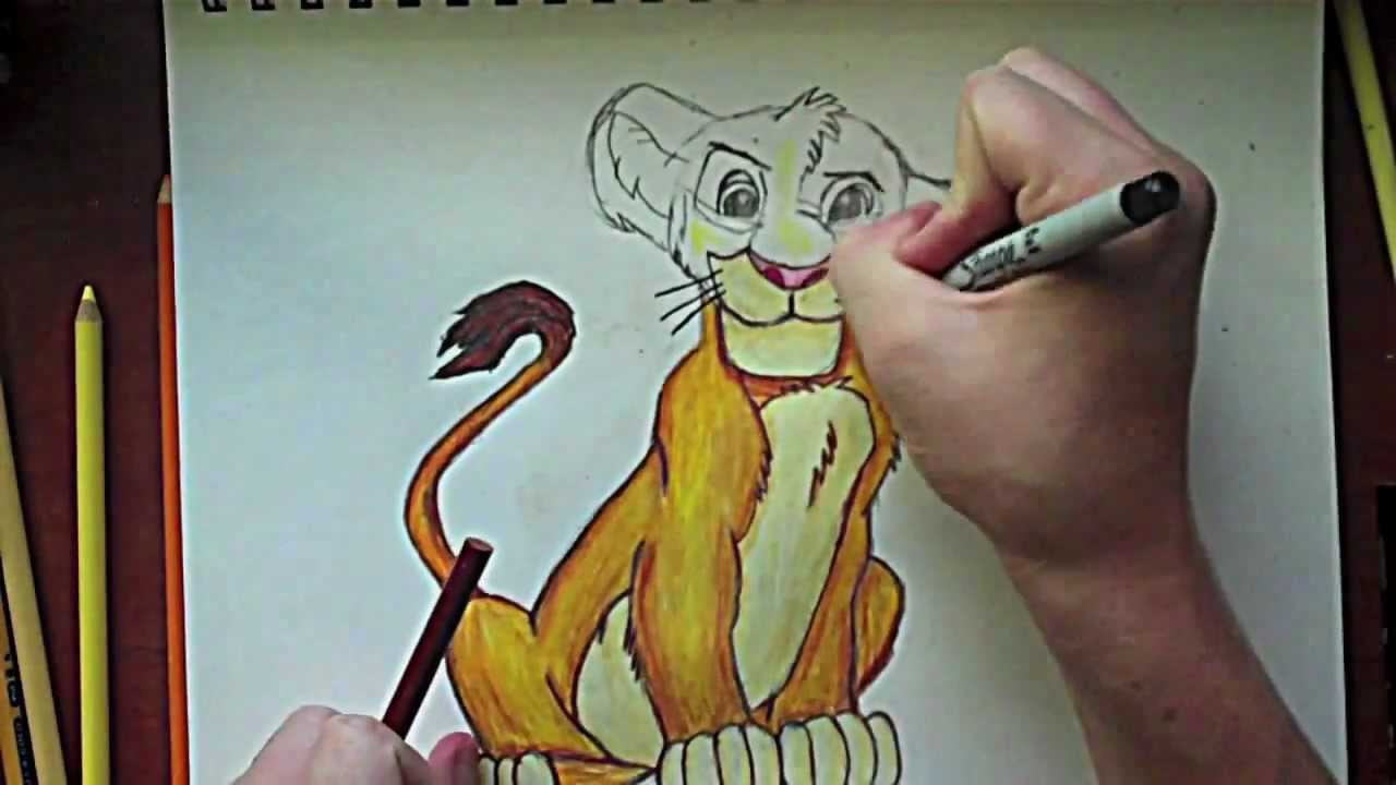 16a84e2a6 The Lion King: Simba Drawing - YouTube