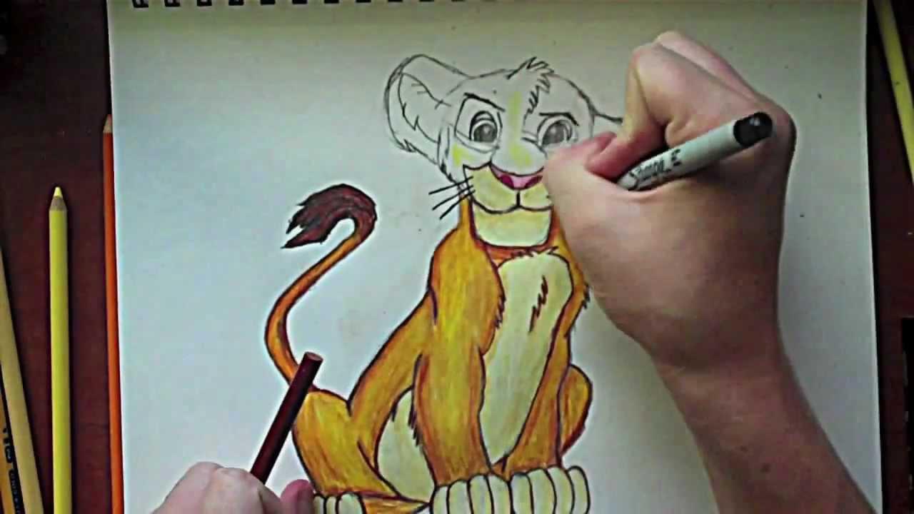 Uncategorized Drawing Lion King the lion king simba drawing youtube