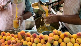 Peach Juice only 50 Rupees | Summer Street Drink Peach Juice | Aroo Sharbat at Karachi Food Street