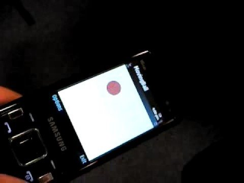 modified MovingBall application running on Samsung i8510