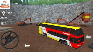 Double Decker Bus Driving in Public Transport Simulator Coach | Bus Games - PTS Android Game Video screenshot 5