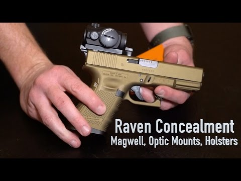 Raven Concealment Magwell, Optic Mount, Holsters - SHOT Show 2016