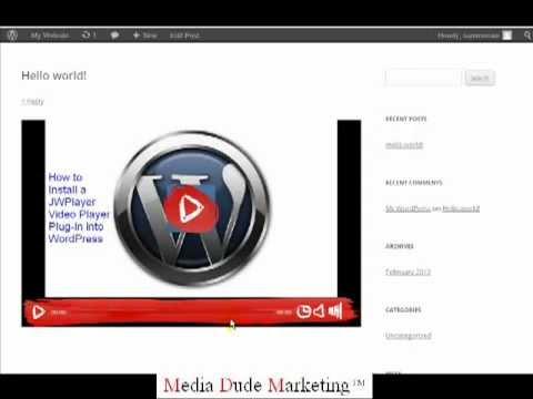 How to Install a Video Player in Wordpress