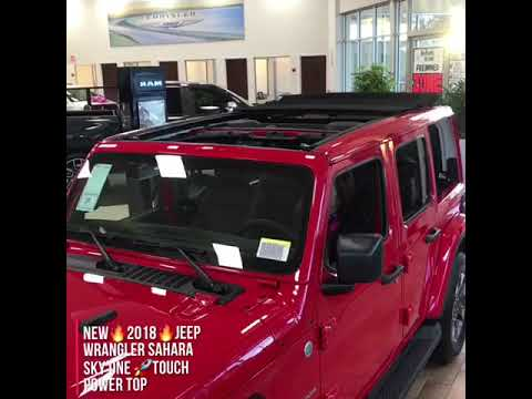 2018 Jeep Wrangler Unlimited Sahara Sky One Touch Top