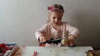 як зробити волосся ляльці хлопчикові з пряжі