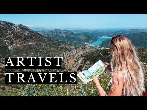 Artist & Sketchbook   Greece Travels