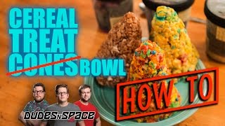 How To Make Cereal Treat Ice Cream Cones - Dudes N Space