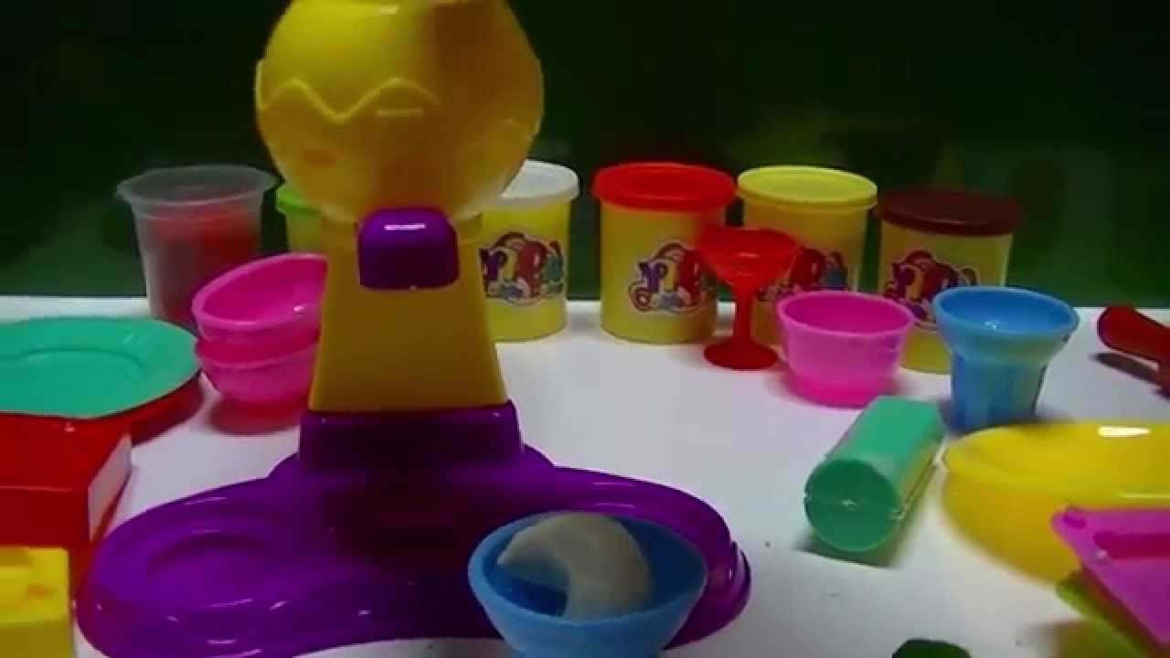play doh ice cream set playdough rainbow funtoyz kids hd1080p youtube. Black Bedroom Furniture Sets. Home Design Ideas