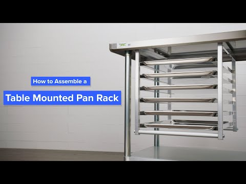 How To Assemble A Table Mounted Bun Pan Rack