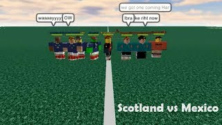 ROBLOX WIC II - Scotland vs Mexico (all goals)