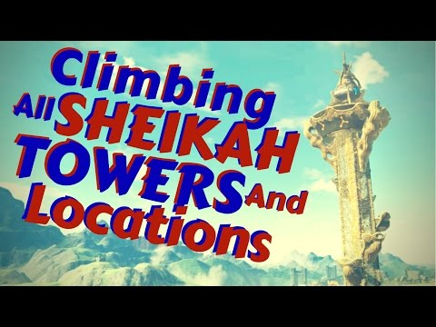 Climbing All Sheikah Towers Zelda BOTW (And Map Locations)