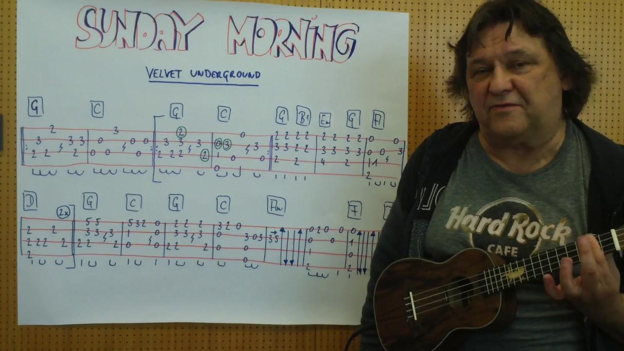 Fingerstyle Ukulele Lesson 15 SUNDAY MORNING The Velvet Underground