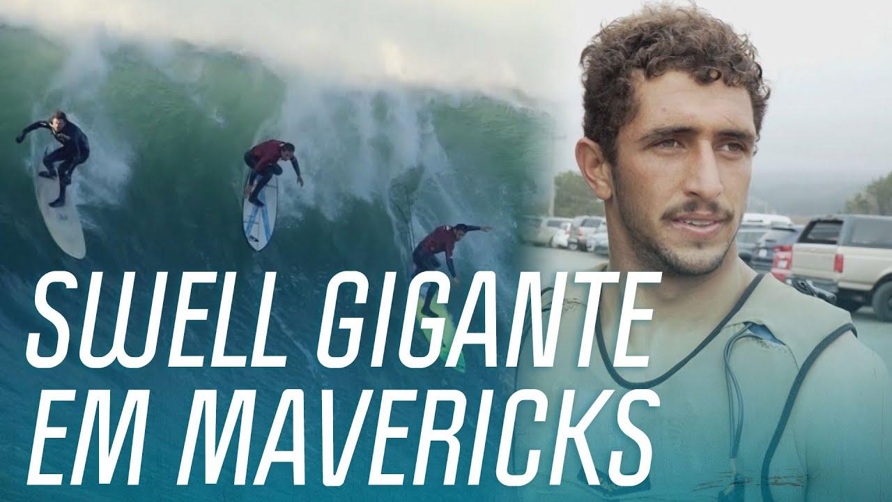 Lucas Chumbo e Carlos Burle encaram as ondas GIGANTES de Mavericks! | Burle, Me Treina |Canal OFF