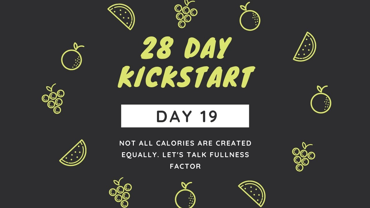 Day 19 - Not All Calories Are Created Equally