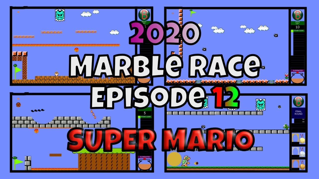 2020 New Marble Race Survival Episode 12 - Super Mario Retro Game