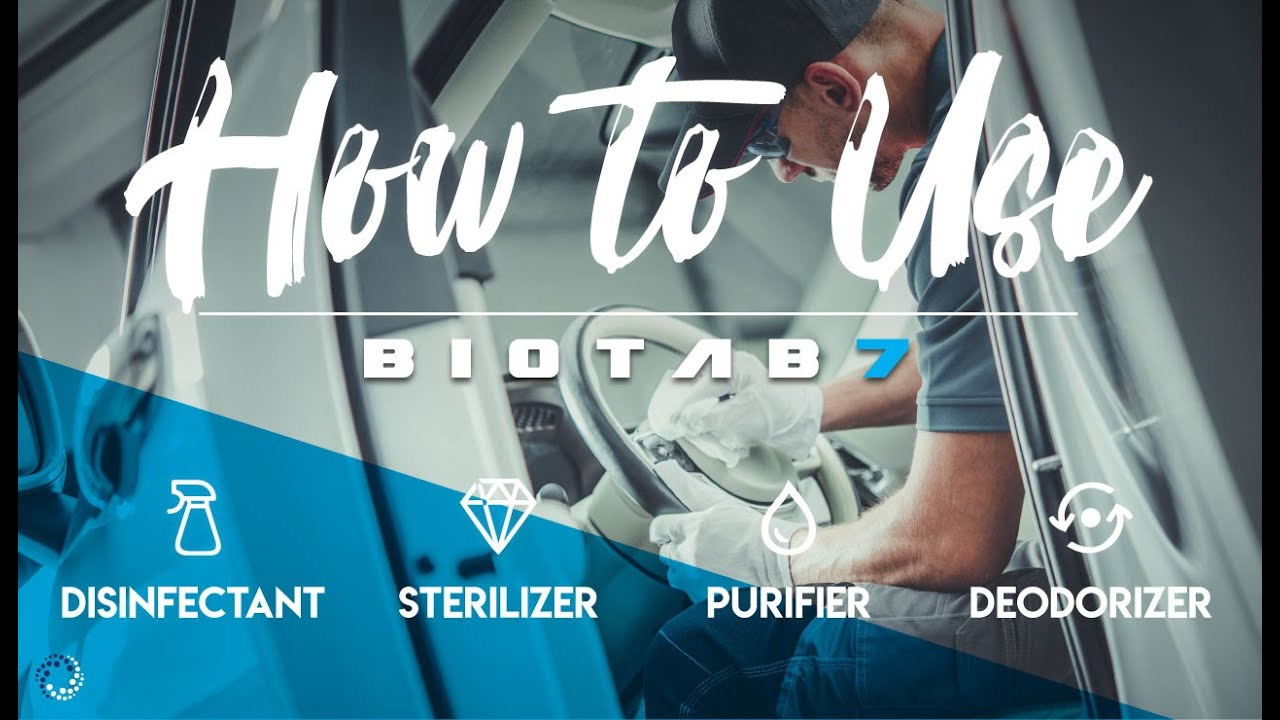How To Use Biotab7 (Super Easy) Disinfectant, Sterilizer, Deodorizer, Purifer