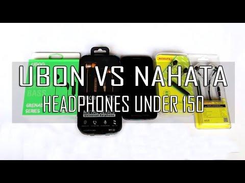 Best Budget Headphones Under 150 Rupees | Ubon Vs Nahata Headphones |